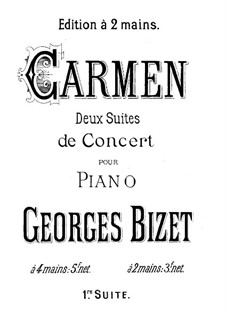 First Suite: Piano score by Georges Bizet