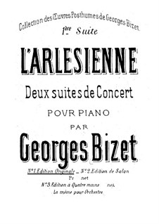 Suite I: For piano by Georges Bizet