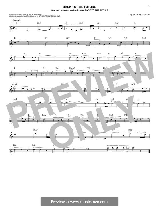 Back to the Future (Theme): Melody line by Alan Silvestri