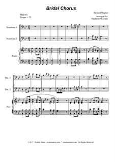 Bridal Chorus: Trombone duet - piano accompaniment by Richard Wagner
