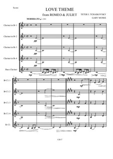Love Theme: Arrangement for clarinets quartet by Pyotr Tchaikovsky