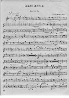 Serenade No.1 in D Major, Op.11: Horn I part by Johannes Brahms