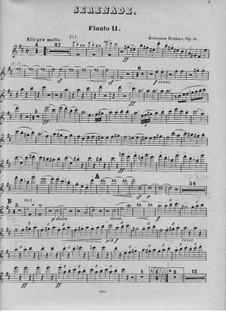 Serenade No.1 in D Major, Op.11: Flute II part by Johannes Brahms