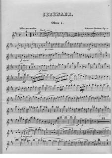 Serenade No.1 in D Major, Op.11: Oboe I part by Johannes Brahms