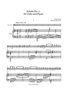 Sonata No.2 for Cello and Piano: Sonata No.2 for Cello and Piano by Jordan Grigg
