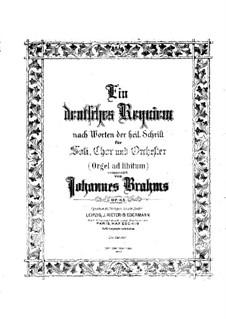 A German Requiem, Op.45: For piano by Johannes Brahms