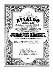 Rinaldo, Op.50: Rinaldo by Johannes Brahms