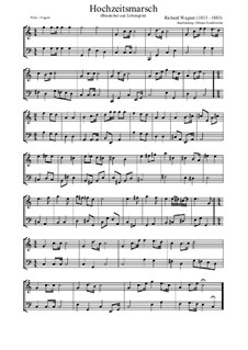Bridal Chorus: For flute and bassoon by Richard Wagner
