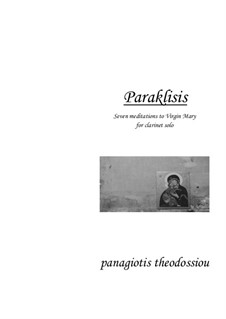 Paraklisis: For clarinet, Op.2 by Panagiotis Theodossiou