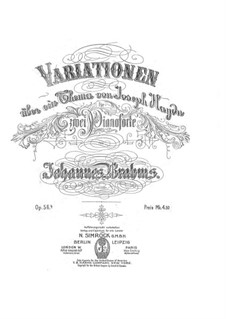 Variations on a Theme by Haydn, Op.56b: For two pianos four hands by Johannes Brahms