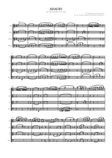 Adagio for Glass Harmonica in C Major, K.356: For wind quartet by Wolfgang Amadeus Mozart