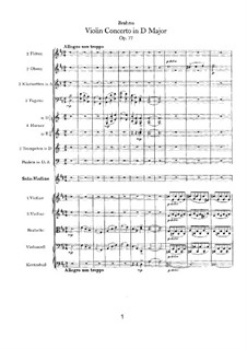 Concerto for Violin and Orchestra in D Major, Op.77: Movement I by Johannes Brahms