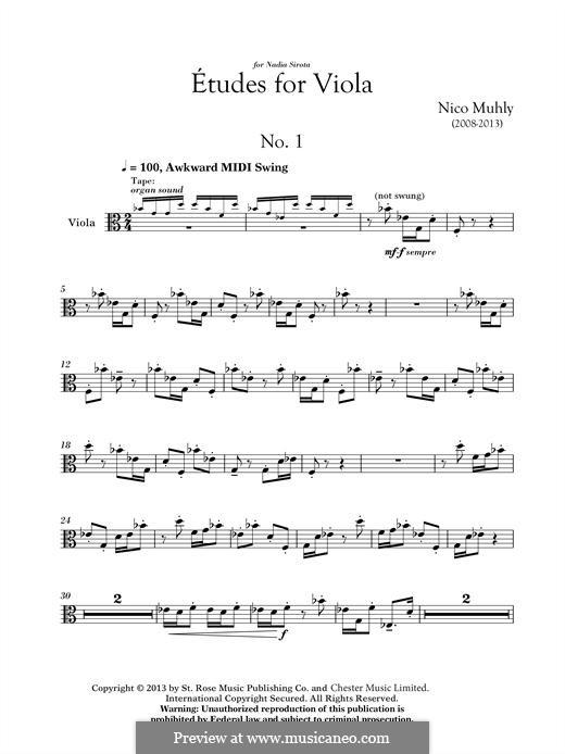 Three Etudes for Viola: Three Etudes for Viola by Nico Muhly
