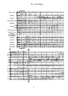 Dance No.3 in F Major: For orchestra by Johannes Brahms