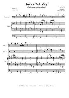 Prince of Denmark's March: Trombone duet - organ accompaniment by Jeremiah Clarke