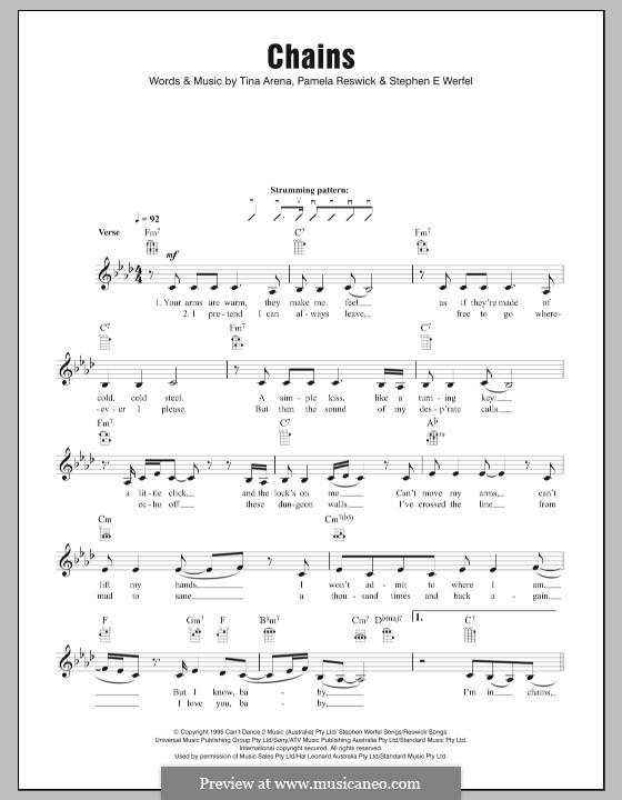 Chains (Tina Arena): For ukulele by Pamela Reswick, Steve Werfel