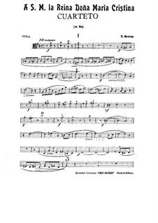 String Quartet in D Major: Viola and cello parts by Tomás Bretón