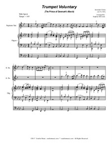 Prince of Denmark's March (Trumpet Voluntary): Duet for soprano and alto saxophone - organ accompaniment by Jeremiah Clarke