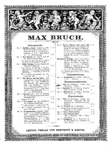 Piano Trio in C Minor, Op.5: Version for piano four hands by Max Bruch