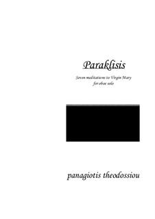 Paraklisis: For oboe, Op.2b by Panagiotis Theodossiou