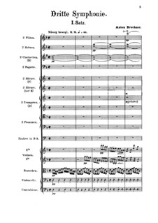Symphony No.3 in D Minor, WAB 103: Full score by Anton Bruckner