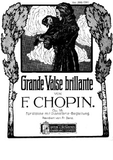 Grand Brilliant Waltz in E Flat Major, Op.18: For violin and piano by Frédéric Chopin