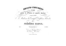 Complete Concerto: Version for piano four hands by Frédéric Chopin