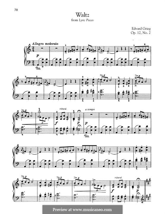 Lyric Pieces, Op.12: No.2 Waltz by Edvard Grieg
