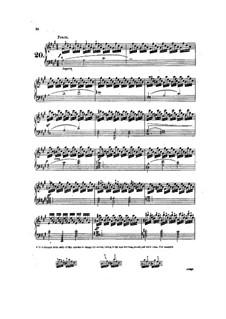 Tausig Edition: Etudes No.20-21 by Muzio Clementi