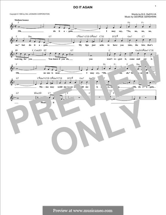 Do it Again: Melody line by George Gershwin