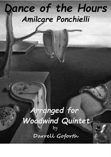 La Gioconda: Dance of the Hours. Arrangement for woodwind quintet by Amilcare Ponchielli