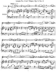 Sonata No.4: Arrangement for violin and piano – score, solo part by Arcangelo Corelli