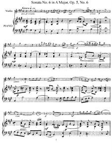Sonata No.6: Arrangement for violin and piano – score, solo part by Arcangelo Corelli