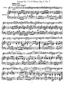 Sonata No.7: Arrangement for violin and piano – score, solo part by Arcangelo Corelli