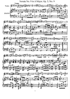 Sonata No.9: Arrangement for violin and piano – score, solo part by Arcangelo Corelli