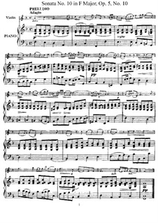Sonata No.10: Arrangement for violin and piano – score, solo part by Arcangelo Corelli
