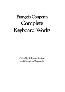 Ordres No.1-13: For harpsichord by François Couperin