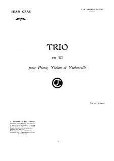Trio for Strings and Piano in C Major: Full score by Jean Cras