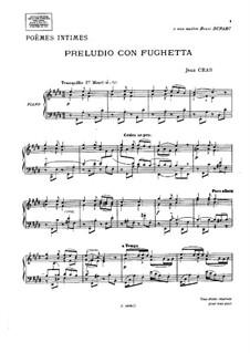 Cinq poèmes intimes: No.2 Preludio con fughetta by Jean Cras