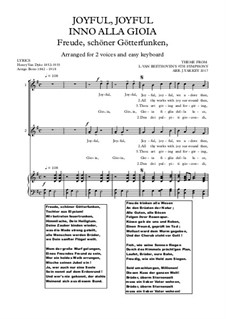 Ode to Joy: Version for two voices by Ludwig van Beethoven