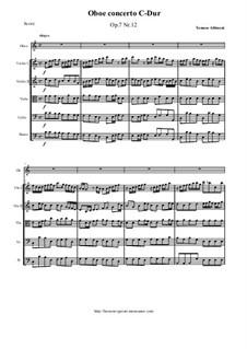 Concerto No.12 in C Major: For oboe and string orchestra by Tomaso Albinoni