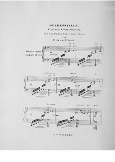 Meeres Stille (Calm at Sea), D.216 Op.3 No.2: For piano, S.558 No.5 by Franz Schubert
