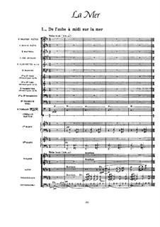 La mer (The Sea), L.109: Full score by Claude Debussy