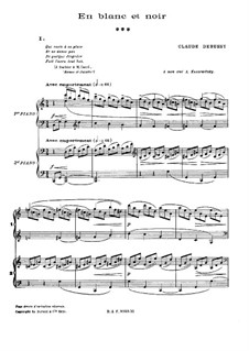 En blanc et noir (In Black and White), L.134: Movement I by Claude Debussy