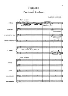 Prélude à l'après-midi d'un faune (Prelude to the Afternoon of a Faun), L.86: Full score by Claude Debussy