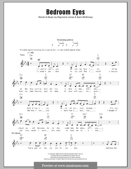 Bedroom Eyes: For ukulele by Raymond Jones, Sami McKinney