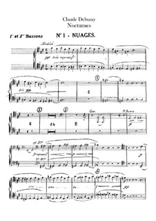 Three Nocturnes, L.91: Bassoons parts by Claude Debussy