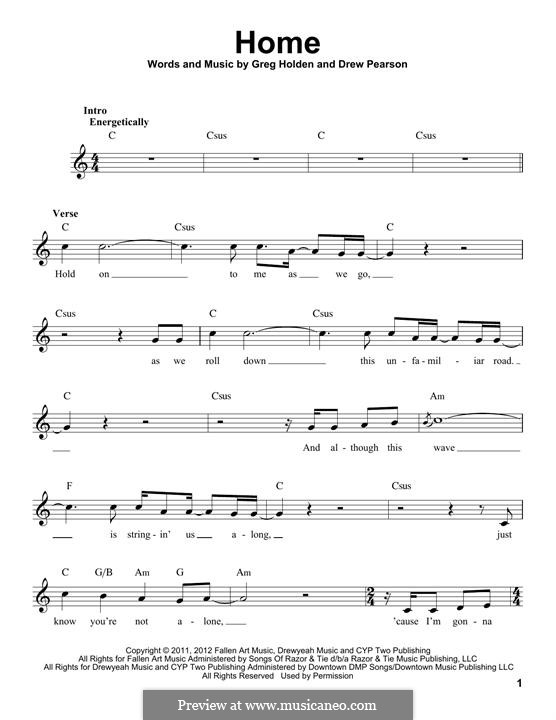 Home: Melody line by Phillip Phillips