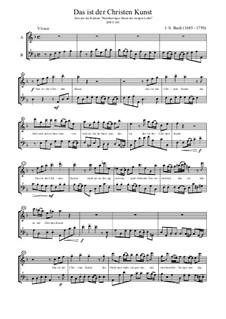 Barmherziges Herze der ewigen Liebe, BWV 185: Das ist der Christen Kunst, für Altblockflöte und Bassblockflöte by Johann Sebastian Bach
