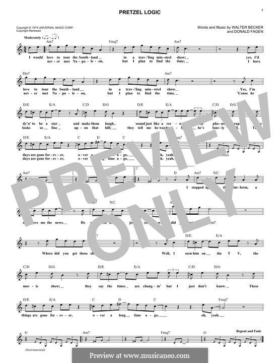 Pretzel Logic (Steely Dan): Melody line by Donald Fagen, Walter Becker